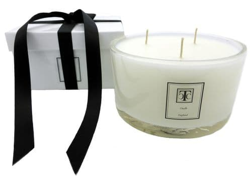 Oudh Scented Candle 3 wick Glass Bowl 80 hour